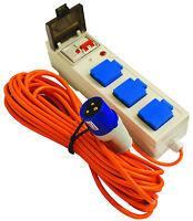 3 Way Mobile Mains Unit Caravan Motorhome Campsite Power Hook Up RCD Cable Lead
