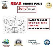 pour Mazda 626 Mk II GC 2.0 2.0i Turbo 1986-1987 plaquette frein arrière