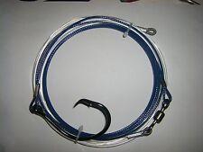2 X   296kg [650lb] land based shark trace 20/0 circle hook