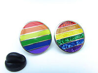 RAINBOW FLAG LGBT MOVEMENT GAY PRIDE FLAG ENAMEL LAPEL PIN BADGE TIE PIN GIFT