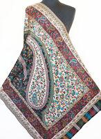 Hand-Cut Kani, Jamawar, Wool, Paisley Shawl. Intricate Design. Jamavar Stole