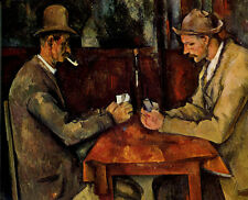 Oil painting Paul Cézanne - Male portraits The Card Players free shipping cost
