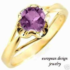 .80 ctw Amethyst Ring 10K yellow gold - Size 7 & Very Nice!
