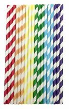 150 Paper Drinking Straws Candy Series for Party,Wedding,Celebration (Rainbow)