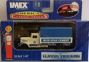 IMEX Classic Two; a Texaco Oil & Blue Star Cement delivery Trucks in HO Scale