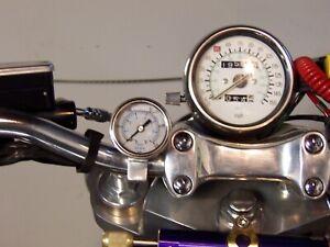 Yamaha V-max vmax Handle bar mount oil pressure gauge kit.