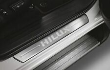GENUINE TOYOTA HILUX REVO STAINLESS STEEL SCUFF PLATES DOUBLE CAB 4 DOORS