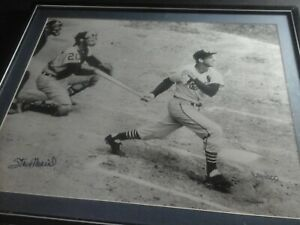 Stan Musial signed photo autographed 424/1000 framed 23 x 16