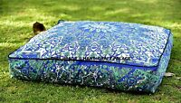 """Indian Star Mandala Square Floor Pillow Throw Seating Dog Bed Cushion Pouf 35"""""""