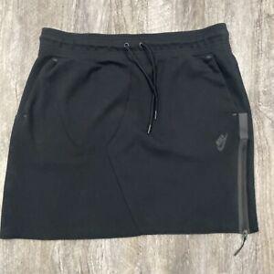 Nike Sportswear Tech Fleece Slim Fit Black Skirt Womens Size XL BV3390-010