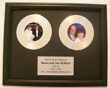 Custom Platinum or Gold Wedding 20th Anniversary Gift 45 Record Award RIAA Style