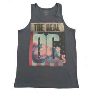 American Eagle Men's Printed Tank Top Gray XSmall or Small NWT