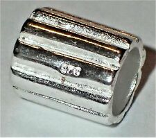 0.925 Sterling Silver Bead ADD TO EUROPEAN STYLE & PANDORA BRACELET 1.29 Grams