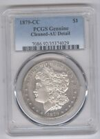 1879-CC Morgan Silver Dollar + PCGS Genuine + AU Detail + No Reserve!