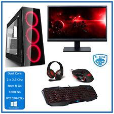 "PC Dual Cores -  Ecran 22""- HD 2 Go - 8 Go - 1 Terra - Pack Gamer - Windows 10"