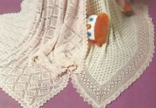 Baby Shawls Knitting Patterns two for the price of one 2ply and 3ply 964