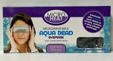 MICRO HEAT MICROWAVEABLE AQUA BEAD EYEMASK WITH ELASTICATED STRAP COOLING