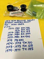 NOS SUZUKI MUFFLER MOUNT DAMPER,RM PE,TM 100 125 250 370 400,AHRMA vintage mx