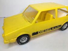 "Vintage Rare Yellow Volkswagen Diesel Rabbit 17"" VW Toy Car Good Year Tire"