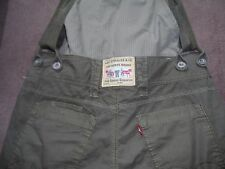 Levi's Rare Khaki Cropped Dungaree Overall  - fit uk size 10 -12