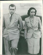 1938 Bruno Mussolini and Wife Gina Ruberti Original Wirephoto