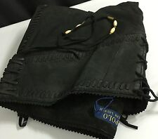 Polo Ralph Lauren Womens Pants Black 2 Laced Fringed Leather
