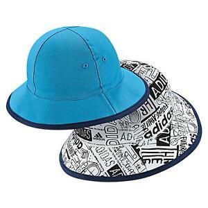 adidas KIDS REVERSIBLE BUCKET HAT WHITE BLUE BABIES TODDLERS CHILDRENS kids SALE