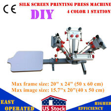 New Listingus 4 Color 1 Station Silk Screen Printing Press Machine With Micro Registration
