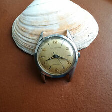 Vintage Paul Breguette Watch w/Tropical Brown Dial,Warm Patina,Thin Divers Case