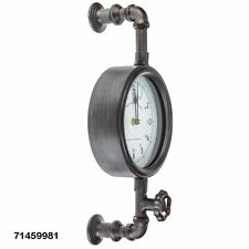 Vintage Inspired Industrial Pipe Wall Clock Shabby Chic Country-Chic