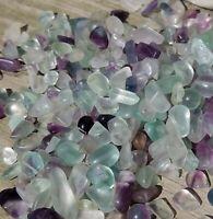Fluorite Crystal Chip Tumble Heal Creative Gemstone Bottle Chakra Stone 50 gram