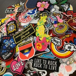 50PCS Lot Animal Letter Random Embroidered Patches Iron on Mixed Clothing Badge
