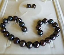 HUGE BLACK PEARL NECKLACE RARE 16.1 MM TO 18.3 MM