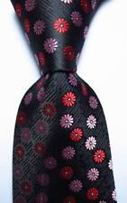 New Classic Polka Dot Black Red Pink White JACQUARD WOVEN Silk Men's Tie Necktie