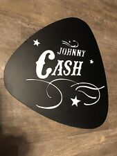 Johnny Cash wall art-Xtra Large metal guitar pick! Great gift for Music studio!