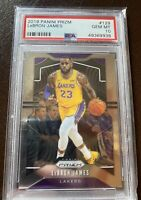 🔥LeBron James🔥2019 Panini Prizm #129 PSA 10 GEM MINT Lakers