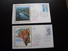 FRANCE - 2 enveloppes 1er jour 1975 (picardie/poitou-charentes) (cy93) french