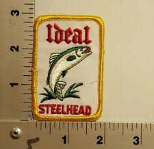 1980's IDEAL STEELHEAD FISHING  VINTAGE EMBROIDERED PATCH