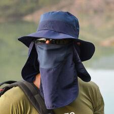 Ajustable Sol Sombrero Sombrero Gorra cubierta de cuello cara al aire libre-a prueba de rayos UV ala ancha para hombre y mujer
