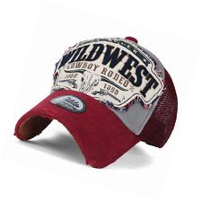 ililily Wild West Patch Vintage Distressed Snapback Trucker Hat Baseball Cap