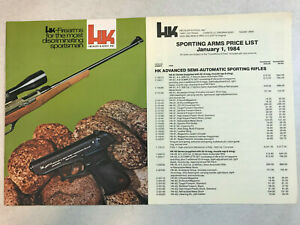 vintage 1984 Heckler & Koch Product Guide Brochure Sporting Arms Price List