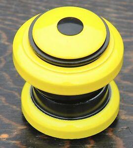 "Yellow 1 1/8"" HEADSET Threadless Fork Vintage MTB Fixie Bicycle Cruiser Bike BMX"