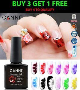 CANNI Rose / Flowers Soak Off LED Blossom Gel Polish Magic Blooming Gel 7.3ml