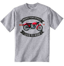 GILERA 175 Sport 1956-nueva Camiseta Algodón Gris-todos Los Tamaños En Stock