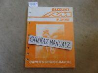 2004 SUZUKI RM125 Owner's Service Manual OEM