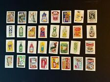 1979 Fleer Crazy Labels Stickers Like Wacky Packages Complete Set 64/64 NM-