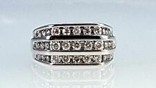 Men's ring 3 row chennel set diamond ring 1.00ct total weight diamonds