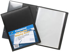 A4 40 Pocket Professional Display Presentation Book Portfolio Padded Satin