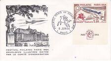 Enveloppe 1er jour FDC 1964 - Festival Philatec Paris Comité d'Organisation