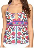 Nanette Lepore Womens Swimwear White Size Small S Antigua Takini Top $116- 154